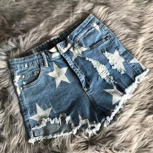 Fashion Nova Star Jean Shorts